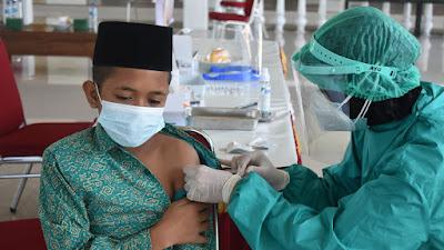 Serbuan Vaksinasi Korem 081/DSJ Sasar Anak-Anak Panti Asuhan