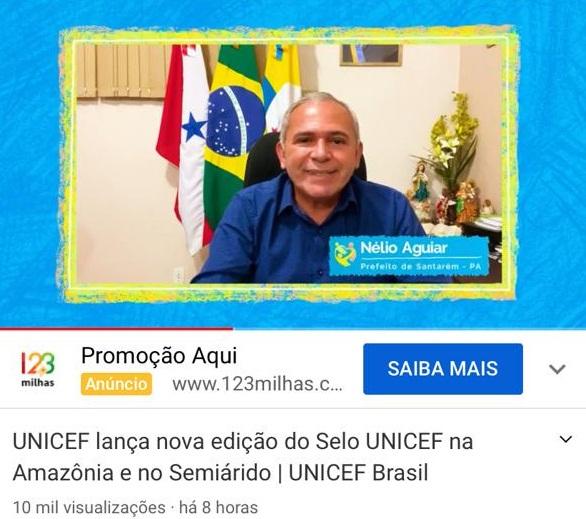 Prefeito Nélio Aguiar participa de lançamento da nova edição do Selo Unicef