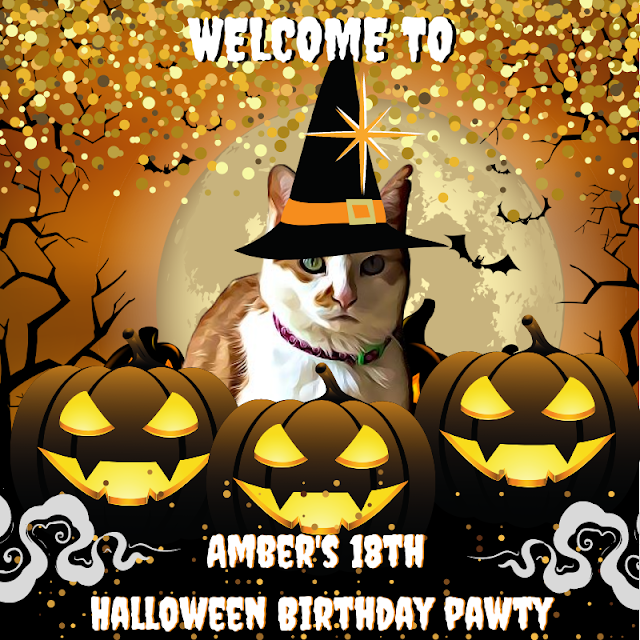 Amber's  Halloween Pawty Banner ©BionicBasil®