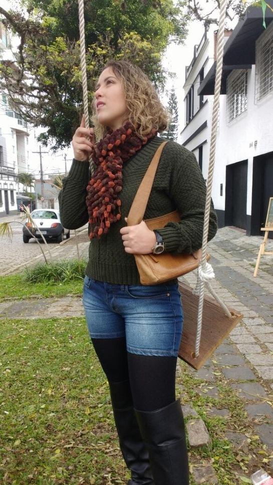 Look inverno com tricot PETIT FIO