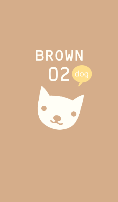 Simple Dog/Brown 02