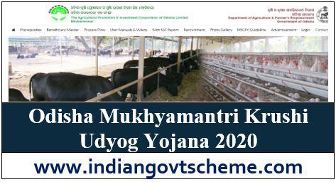 Odisha Mukhyamantri Krushi Udyog Yojana
