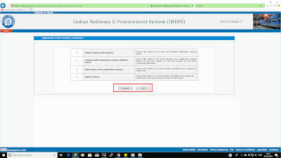 07 New Vendors Contractors Registration page not showing the 'Proceed' button