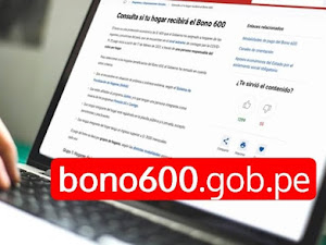 BONO600.GOB.PE ▷ LINK para consultar bono de 600 soles
