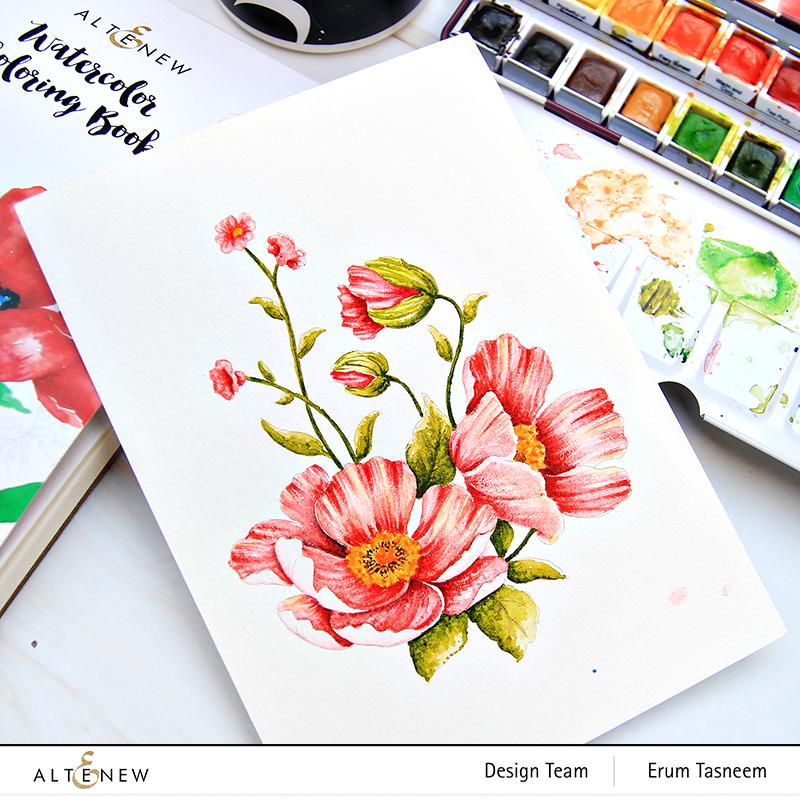 Altenew Coloring Book | Erum Tasneem | @pr0digy0