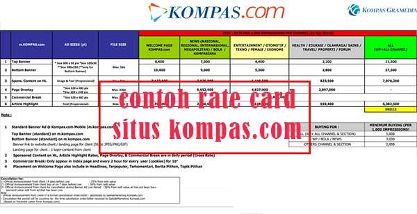 Pengertian Rate Card