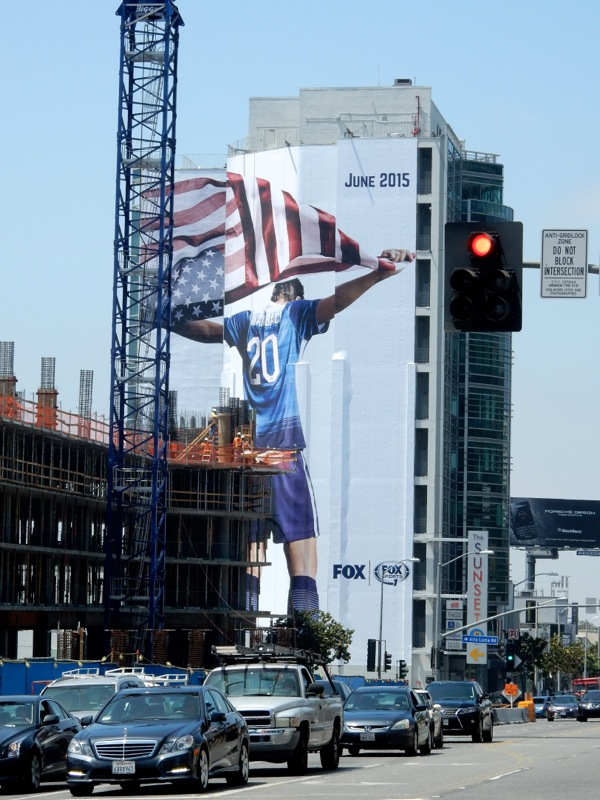 Giant Fox Sports World Cup Soccer billboard Sunset Strip