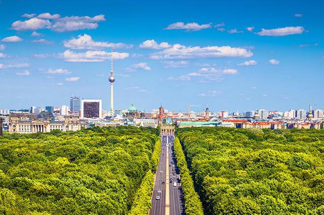 Caminho do roteiro de carro de Munique para Berlim