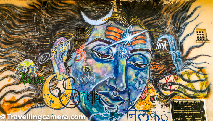 Above graffiti is around Ambrai Ghat of Lake Pichola in Udaipur city of Rajasthan. These are very few of the graffitis from Udaipur and I wish to visit it again to explore more of these graffitis.   If you liked this post and found it helpful, I would request you to follow these things when traveling -   1. Manage your waste well and don't litter. Use dustbins. 2. Tell us if you went to a place and found it hard to locate a dustbin.  3. Avoid water bottles in hills. Usually you get clean water in hills and water bottles create lot of mess in our ecosystem. In plains, refill your bottles with RO at hotel.   4. Say big no to plastic and avoid those unhealthy snacks packed in plastic bags. Rather buy fruits.  5. Don't play loud blaring music in forests or jungle camps. You are a guest in that ecosystem and disturbing the locals (humans and animals) is not polite.