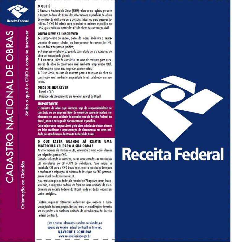 Cadastro Nacional de Obras - CNO
