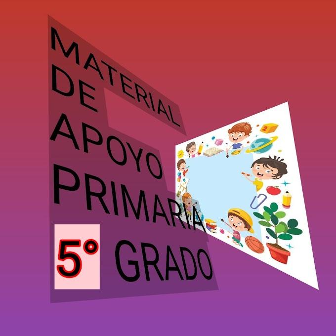Material de Apoyo (Marzo-Abril) 5° Primaria