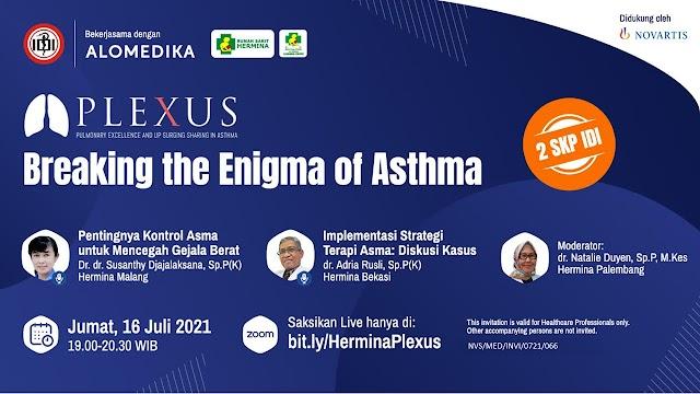 """(GRATIS 2 SKP IDI) Webinar  """"*Breaking The Enigma of Asthma*"""","""