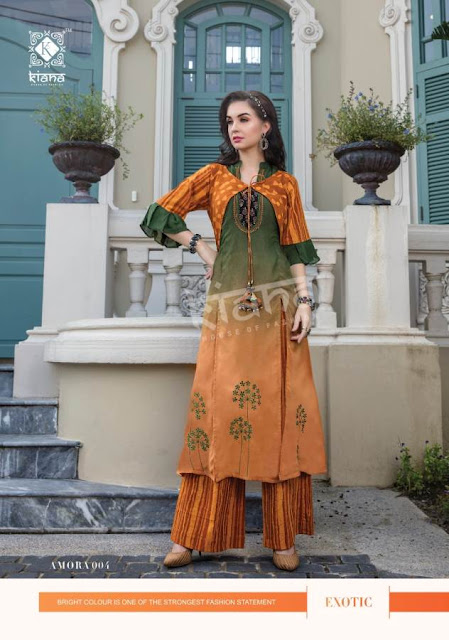 Kiana Amora Kurti With Bottom