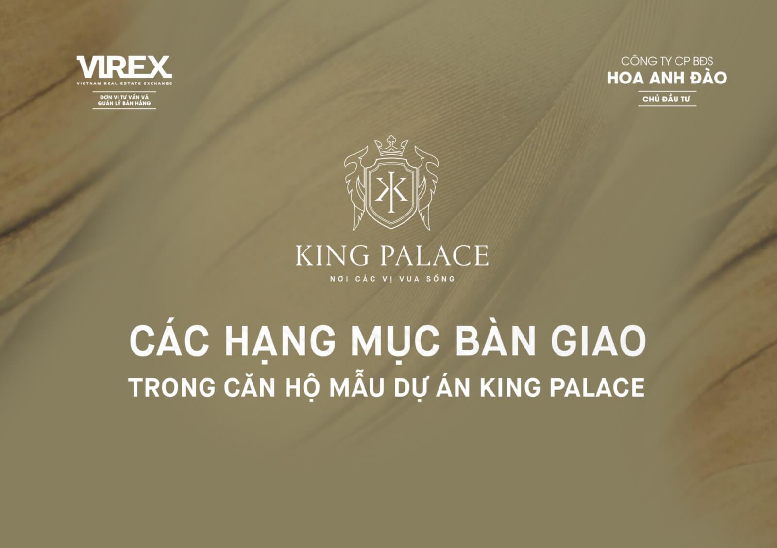 Các hạng mục bàn giao căn hộ King Palace