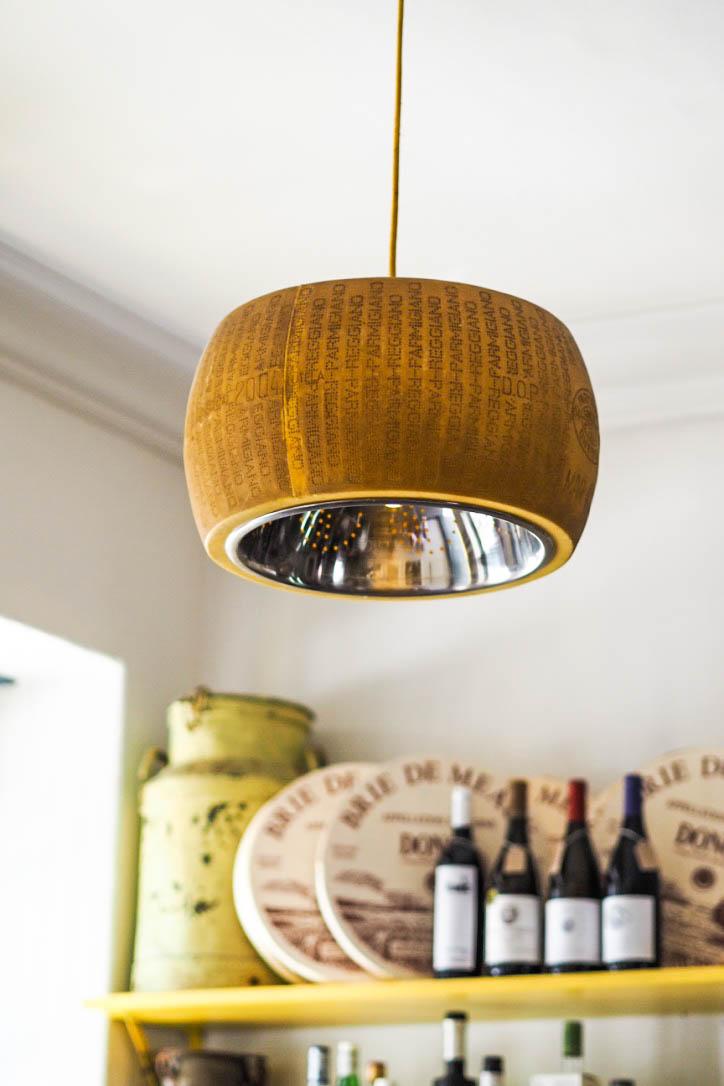 Cheese wheel lampshade