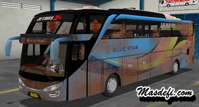 livery bussid shd blue star kotor