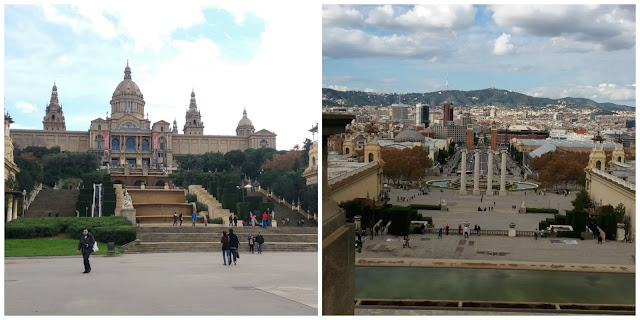 MNAC - Museu Nacional de Arte da Catalunha e Barcelona vista da frente do museu
