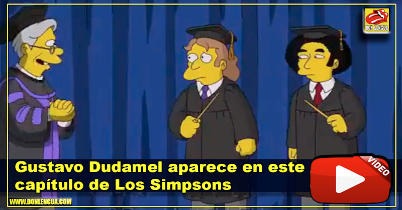 Gustavo Dudamel aparece en un capítulo de Los Simpsons
