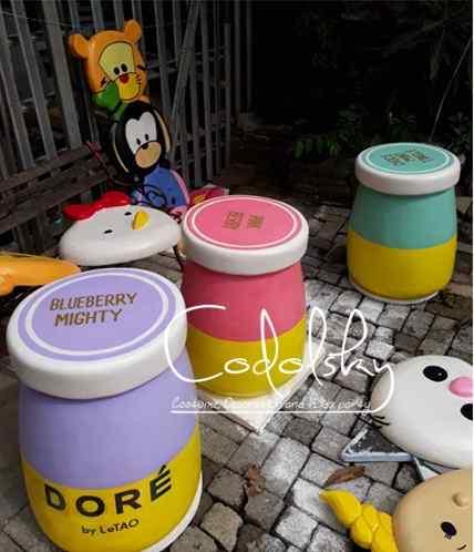 Dummy Property patung replika / mockup Tiruan maskot karakter dari busa gabus styrofoam untuk pajangan di pameran & promosi