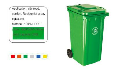 Thùng rác 240l, thùng rác nhựa có bánh xe