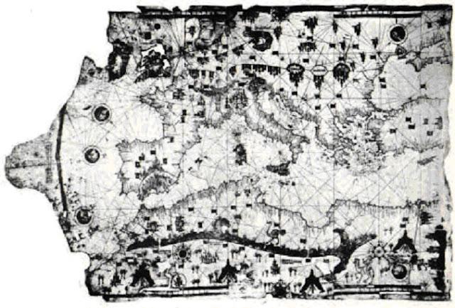 Año 1487. Mapa de Yehudi Ibn Ben Zara. Es realmente enigmática la manera en cómo pudieron representar Europa de manera tan precisa, como si la estuvieran viendo desde el espacio.