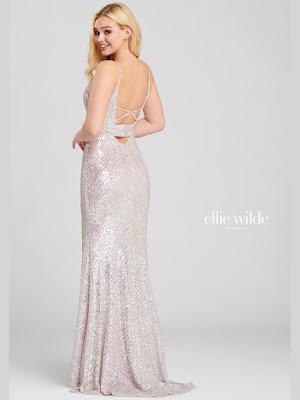 Ellie Wilde Plugging v-neck petal color dress back side