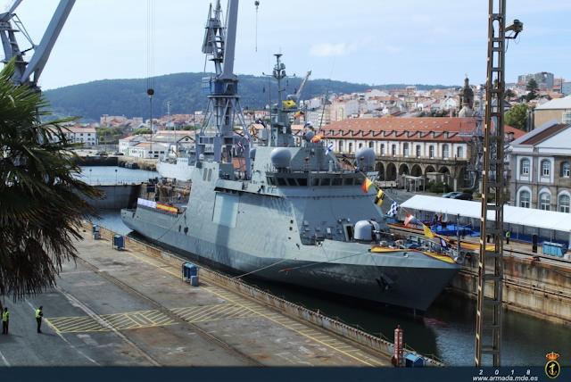 """Acto de amadrinamiento del BAM P-46 """"Furor"""" en Ferrol"""