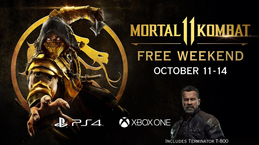 mortal kombat 11 free trial weekend ps4 xbox one netherrealm studios warner bros interactive entertainment