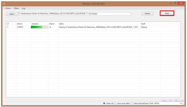 Cara Flash Xiaomi Redmi 4A (Rolex) Menggunakan Mi Flash Tool Via Fastboot Dengan Rom Global Terbaru
