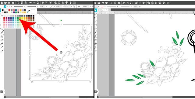 cut files, paper crafts, silhouette studio, SVG, Fill Color