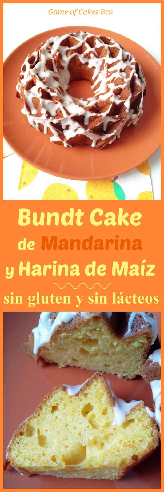 bundt cake mandarina y harina de maíz, sin gluten y sin lácteos