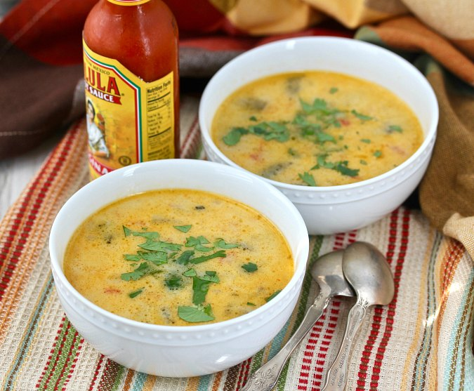 Cheese Soup with Chiles and Potato