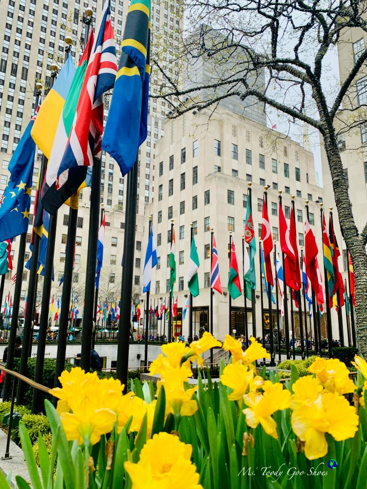 SPRINGTIME IN ROCKEFELLER CENTER: MS. TOODY GOO SHOES