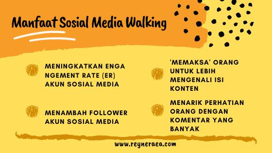 sosial media walking