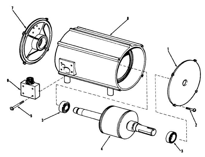 Ac Motor Exploded View ~ Ac Motor Kit Picture