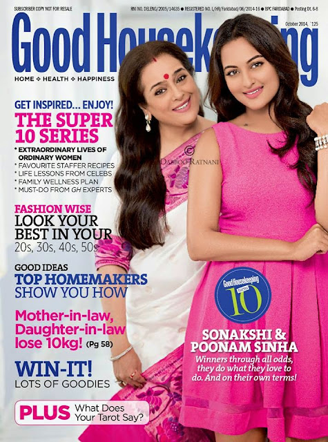 Mrs. Poonam & Sonakshi for Good Housekeeping India Magazine