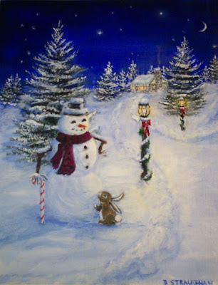 Snowman/Rabbit Painting