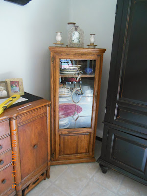 How to Make a Dish Storage Cupboard from an entertainment center!