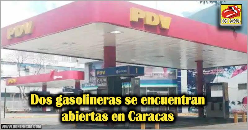 Dos gasolineras se encuentran abiertas en Caracas