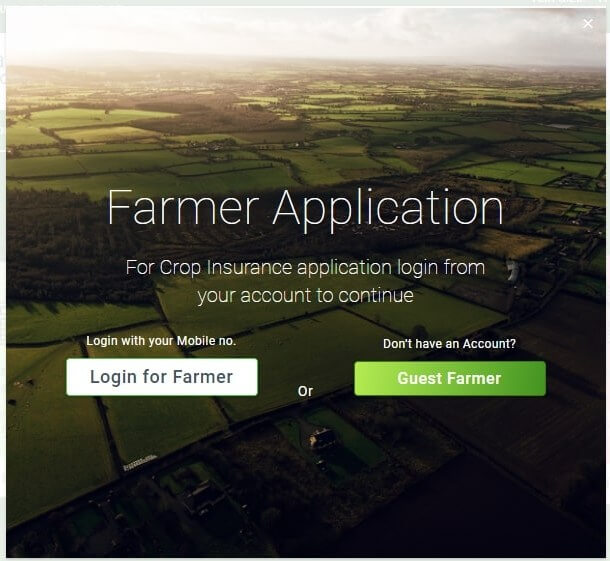 PMFBY farmer login for application