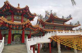 Templo Thean Hou o Templo de las Luces. Kuala Lumpur, Malasia.