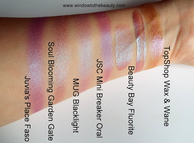 Beauty Bay New Liquid Crystal Eyeshadow fluorite  swatches compare to the other shades