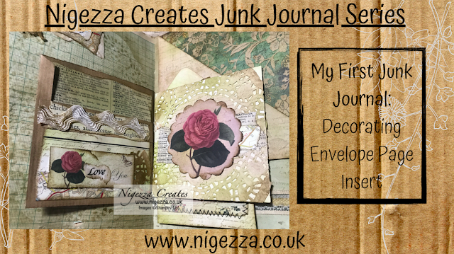 Nigezza Ceates My First Junk Journal: Decorating Envelope Page Insert