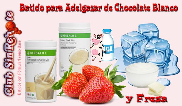Recetas de batidos proteinas para adelgazar