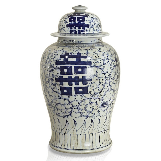 discount price ginger jars, blue and white porcelain, asian porcelain, chinese porcelain, clearance price blue and white jars,