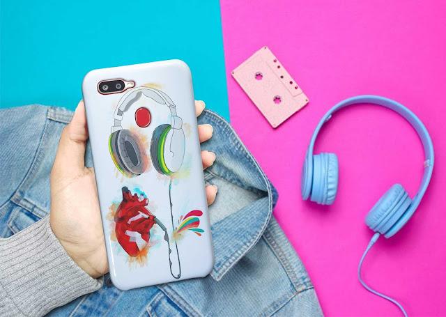 Mockup Custom Case 3D Oppo A5S Gratis