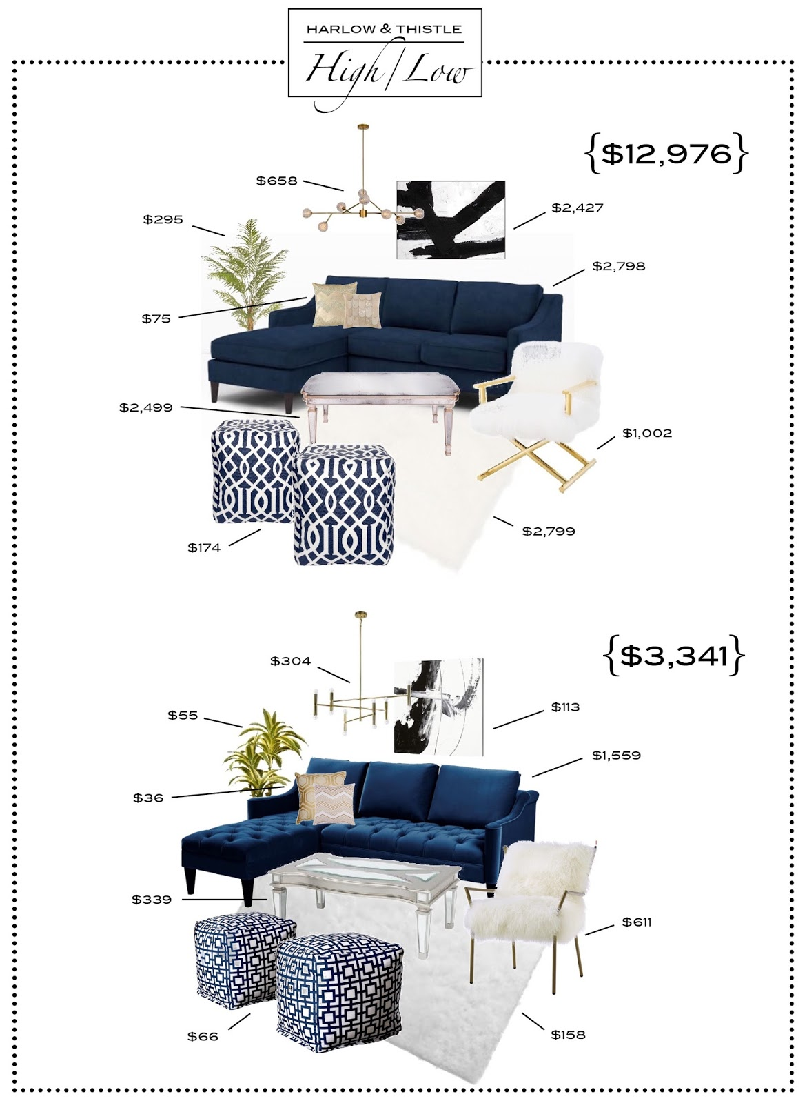 high-low living room design