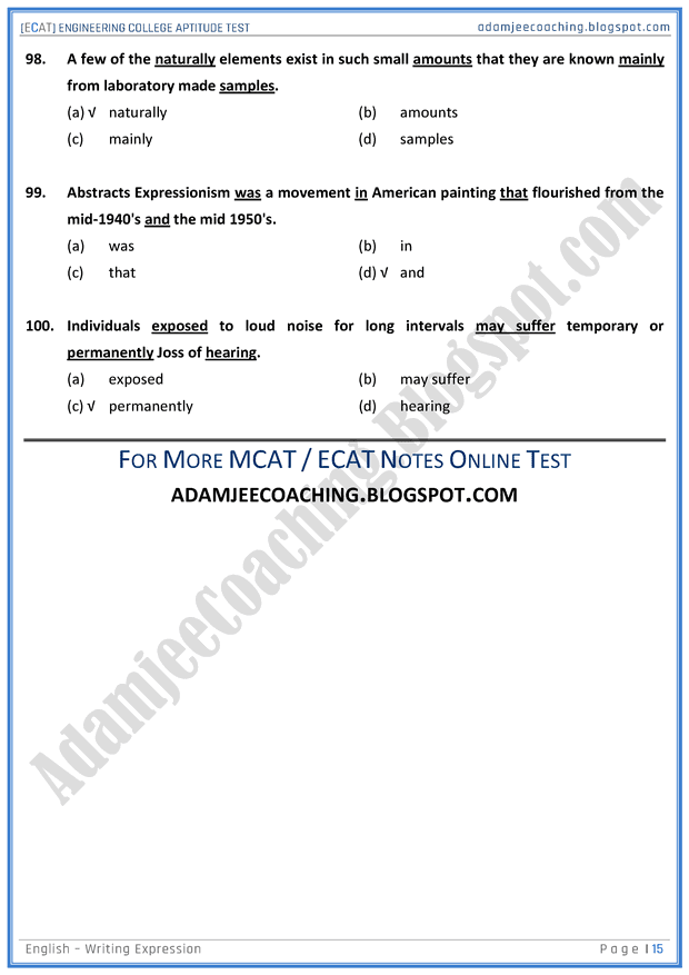 ecat-english-writing-expression-mcqs-for-engineering-college-entry-test
