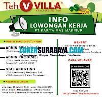 Info Lowongan Kerja di PT. Karya Mas Makmur Surabaya September 2020