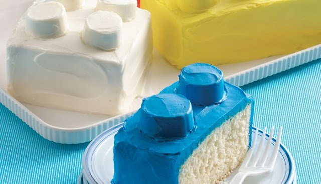 lego brick ice cream cake